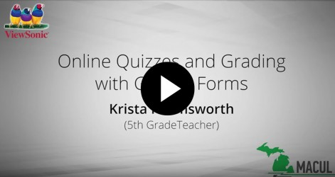 Online Quizzes & Grading with Google Forms with Krista Harmsworth Videos Apr 2016
