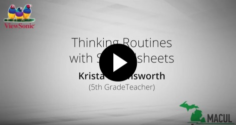 Thinking Routines with Spreadsheets with Krista Harmsworth Videos Apr 2016