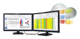 SD-Z245 Dual Display Performance Increases Productivity